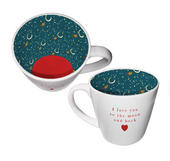 I Love You To The Moon & Back Ceramic Inside Out Mug In Gift Box