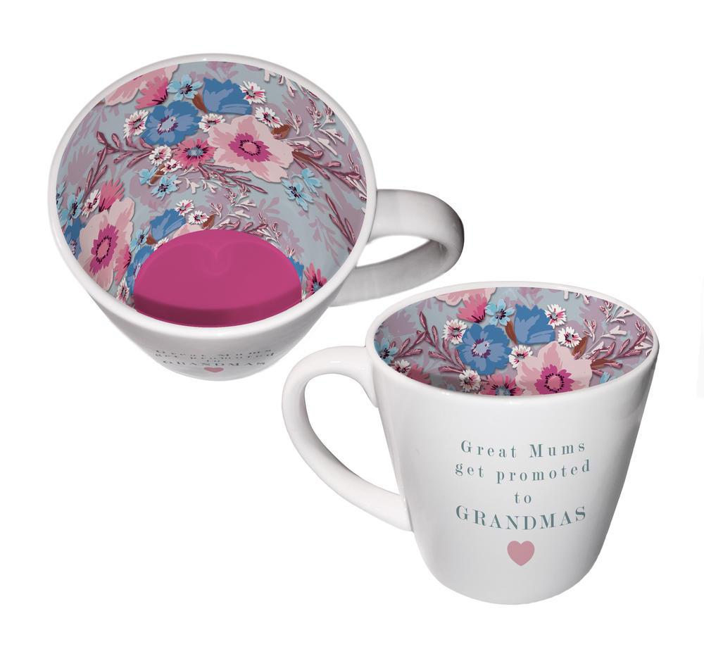 Great Mums Promoted To Grandmas Ceramic Inside Out Mug