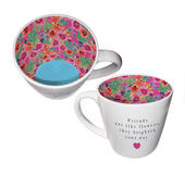 Friends Are Like Flowers, They Brighten Your Day Inside Out Mug
