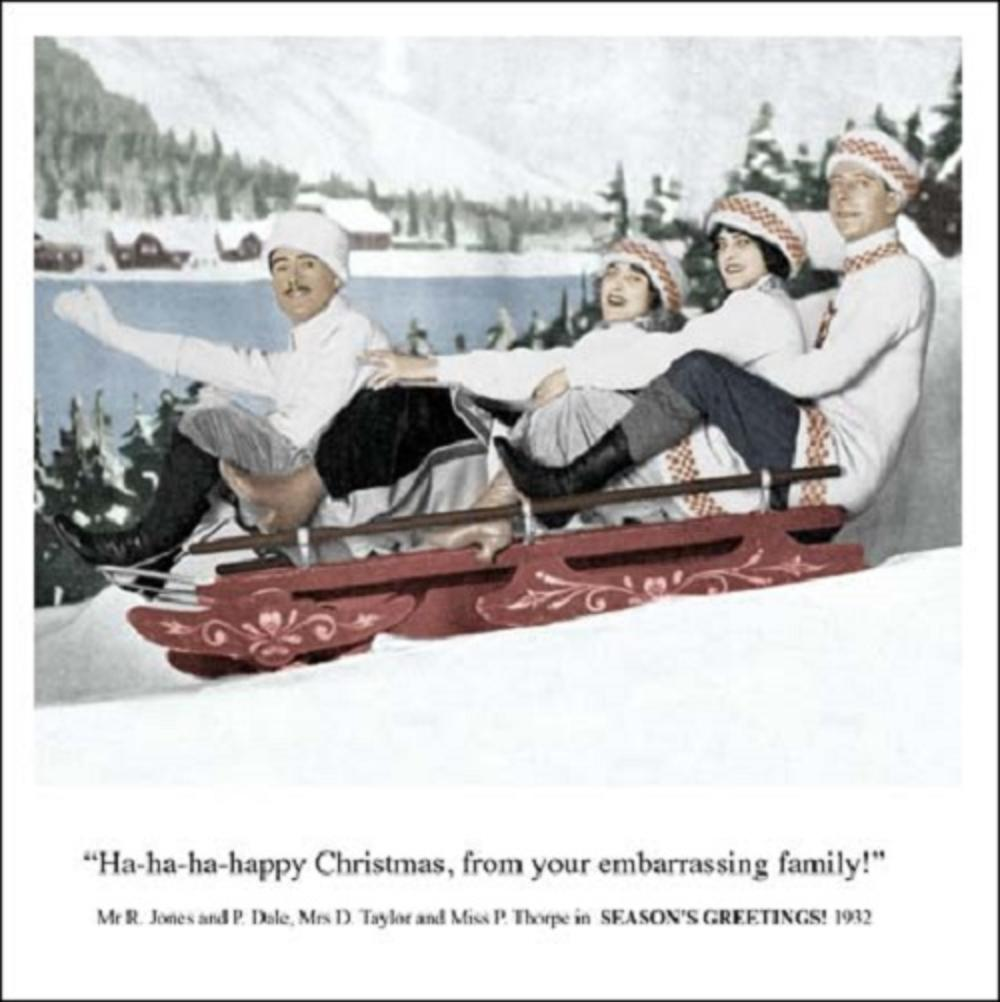 Ha-ha-ha-happy Funny Christmas Greeting Card