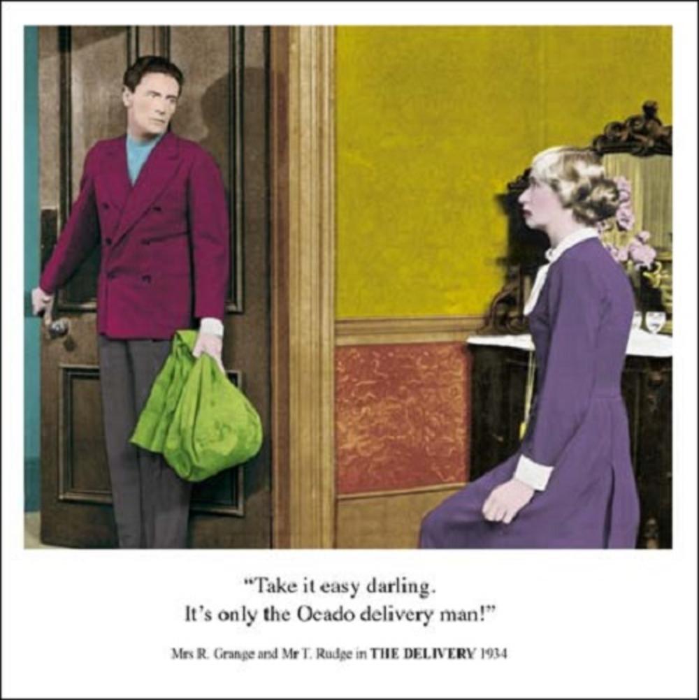 Ocado Delivery Man Funny Birthday Greeting Card