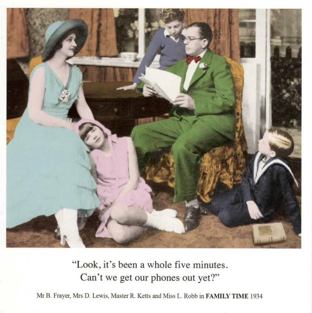 Funny Family Time Birthday Greeting Card