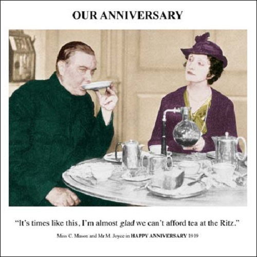 Our Anniversary Greeting Card Square Retro Humour Drama ...  Vintage Wedding Quotes