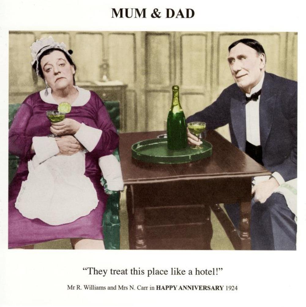 Mum & Dad Happy Anniversary Greeting Card