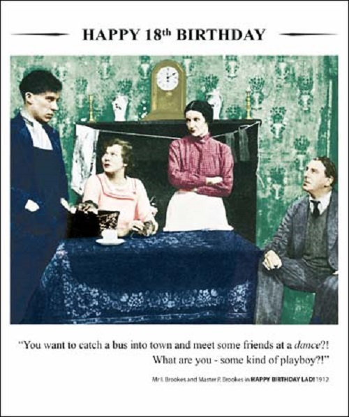 Details about Happy 18th Birthday Greeting Card Square Retro Humour Drama  Queen Cards
