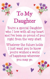 To My Daughter Heartwarmers Keepsake Credit Card & Envelope