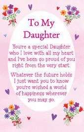To My Daughter Heartwarmers Keepsake Credit Card & Envelope
