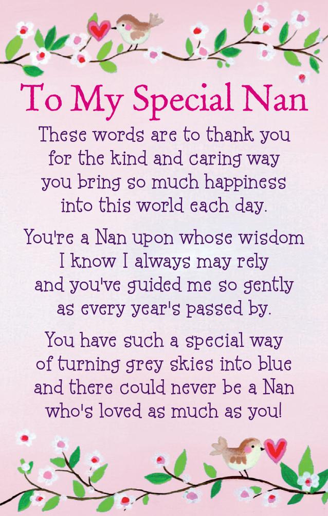 To My Special Nan Heartwarmers Keepsake Credit Card