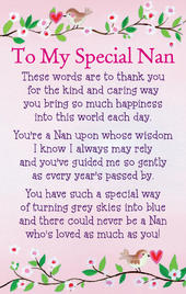 To My Special Nan Heartwarmers Keepsake Credit Card & Envelope