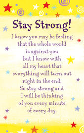 Stay Strong Heartwarmers Keepsake Credit Card & Envelope