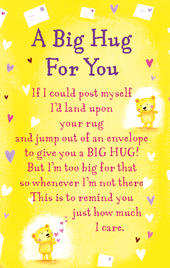 A Big Hug For You Heartwarmers Keepsake Credit Card & Envelope