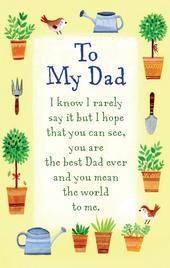 To My Dad Heartwarmers Keepsake Credit Card & Envelope