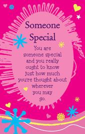 Someone Special Heartwarmers Keepsake Credit Card & Envelope