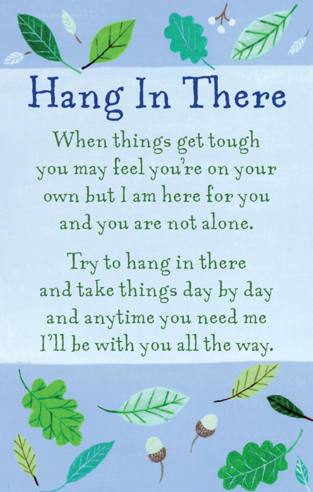 Hang In There Heartwarmers Keepsake Credit Card & Envelope