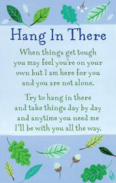 Hang In There Heartwarmers Keepsake Credit Card & Envelope