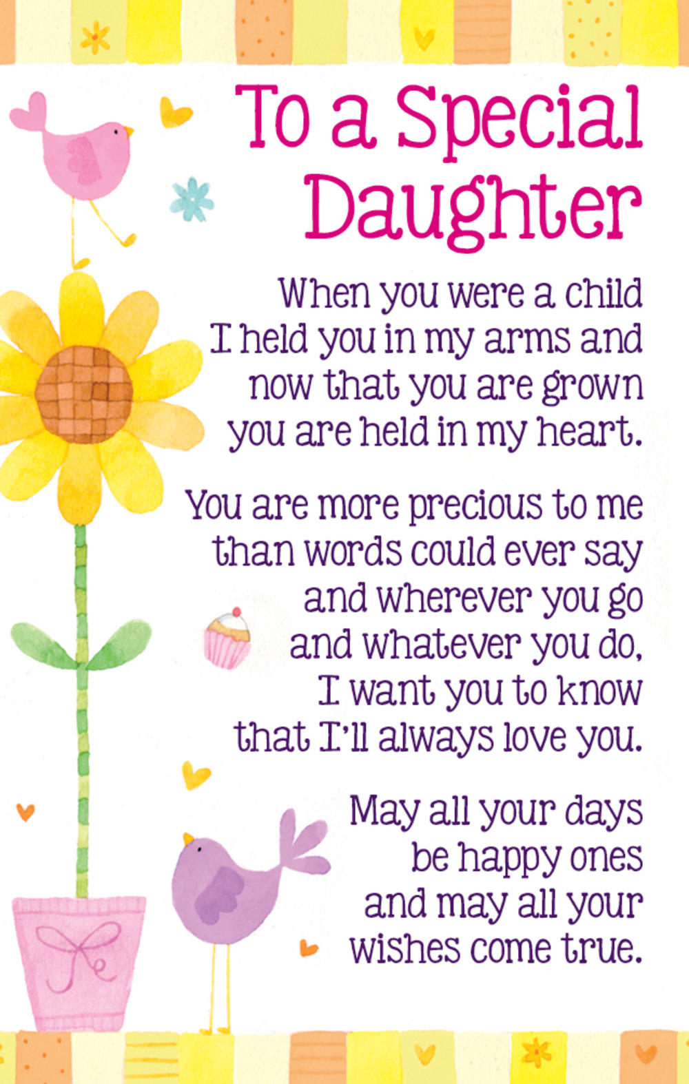 To A Special Daughter Heartwarmers Keepsake Credit Card & Envelope