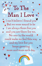 To The Man I Love Heartwarmers Keepsake Credit Card & Envelope