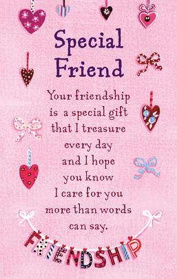 Special Friend Heartwarmers Keepsake Credit Card & Envelope