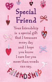 Special Friend Heartwarmers Keepsake Credit Card & Envelope