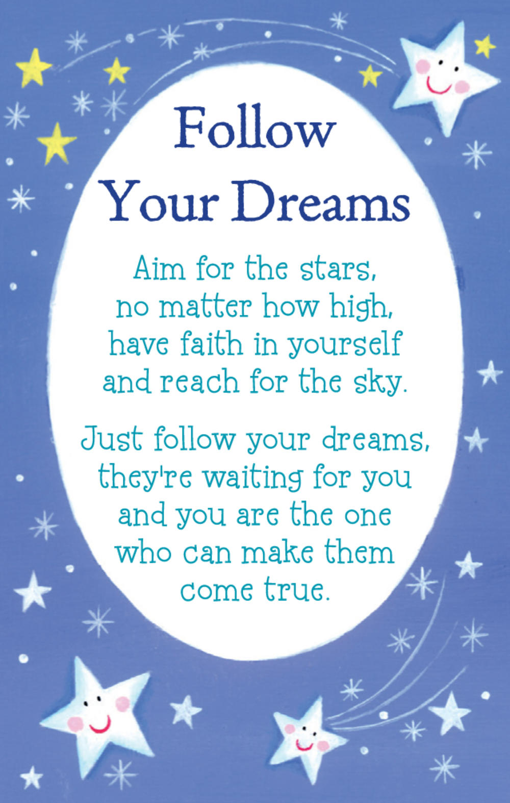 Follow Your Dreams Heartwarmers Keepsake Credit Card & Envelope
