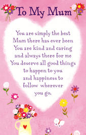 To My Mum Heartwarmers Keepsake Credit Card & Envelope