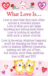 What Love Is....Heartwarmers Keepsake Credit Card & Envelope