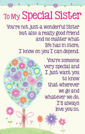 To My Special Sister Heartwarmers Keepsake Credit Card & Envelope