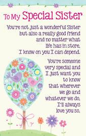 To My Special Sister Heartwarmers Keepsake Credit Card & Envelope