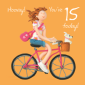 Girls 15th Birthday Greeting Card