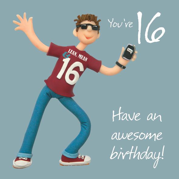 Boys 16th Birthday Greeting Card