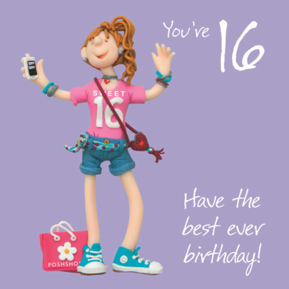 Girls 16th Birthday Greeting Card