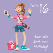 Girls 16th Birthday Greeting Card