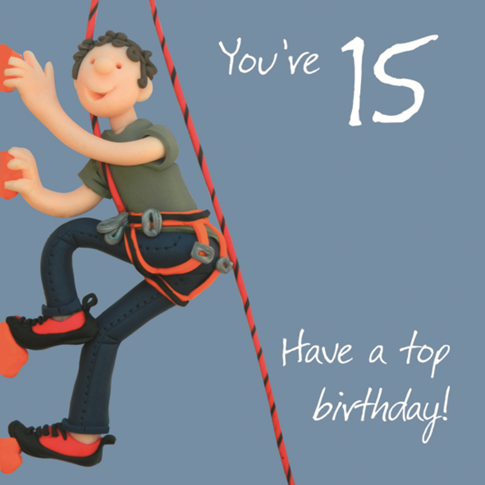 Boys 15th Birthday Greeting Card