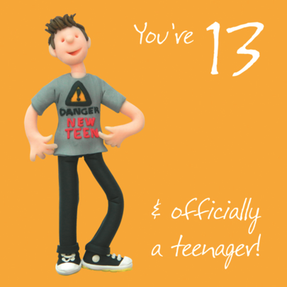 Boys 13th Birthday Greeting Card