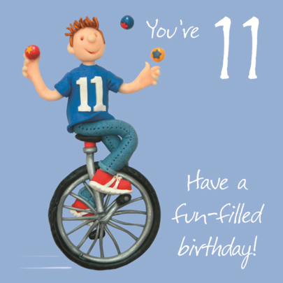 Boys 11th Birthday Greeting Card