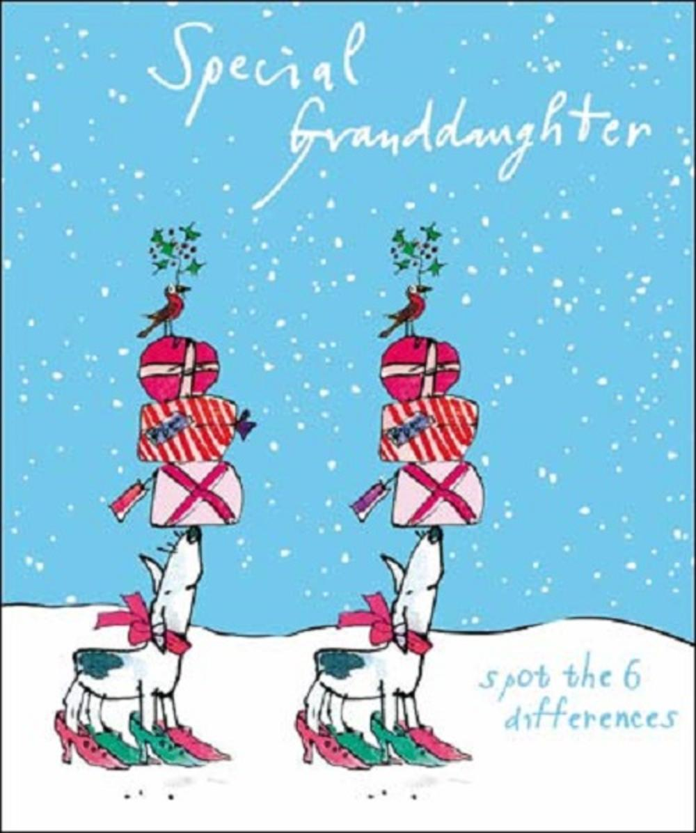 Special Granddaughter Quentin Blake Christmas Card