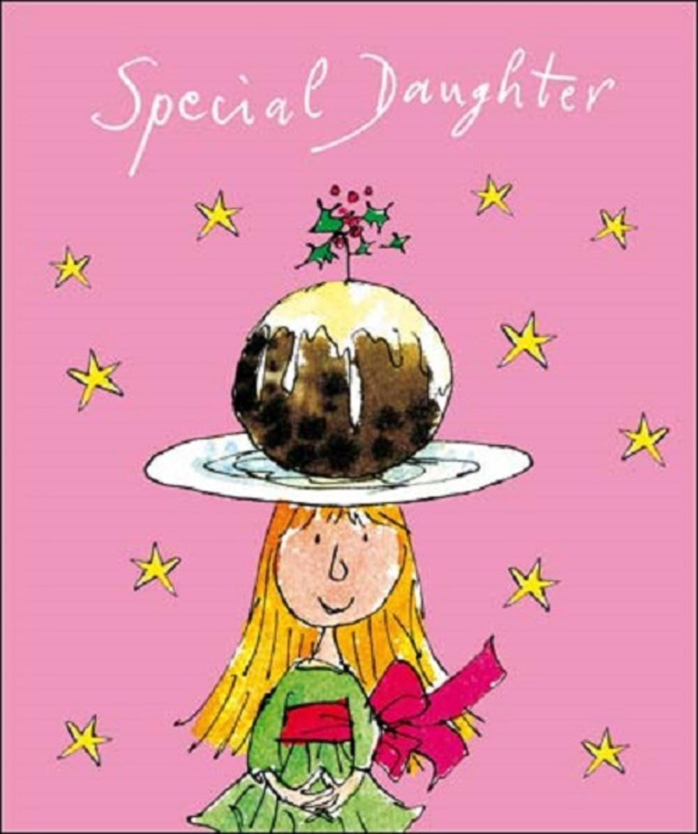 Wonderful Daughter Quentin Blake Christmas Greeting Card
