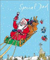 Special Dad Quentin Blake Christmas Greeting Card