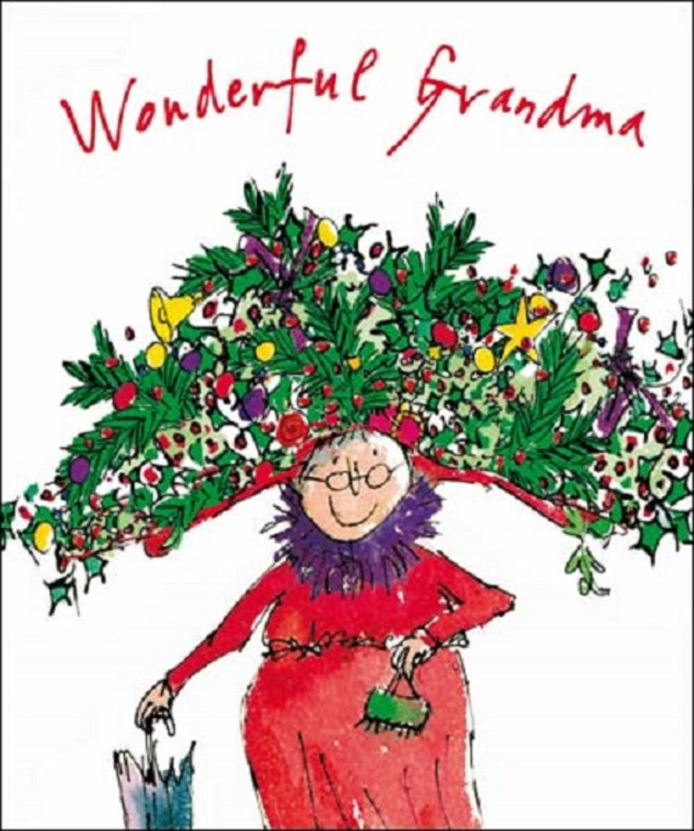 Wonderful Grandma Quentin Blake Christmas Greeting Card