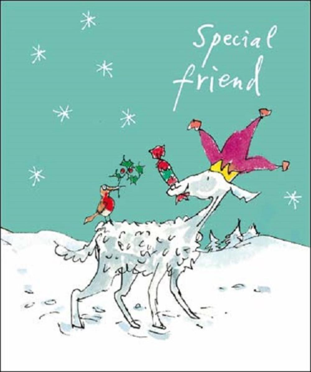 Special Friend Quentin Blake Christmas Greeting Card