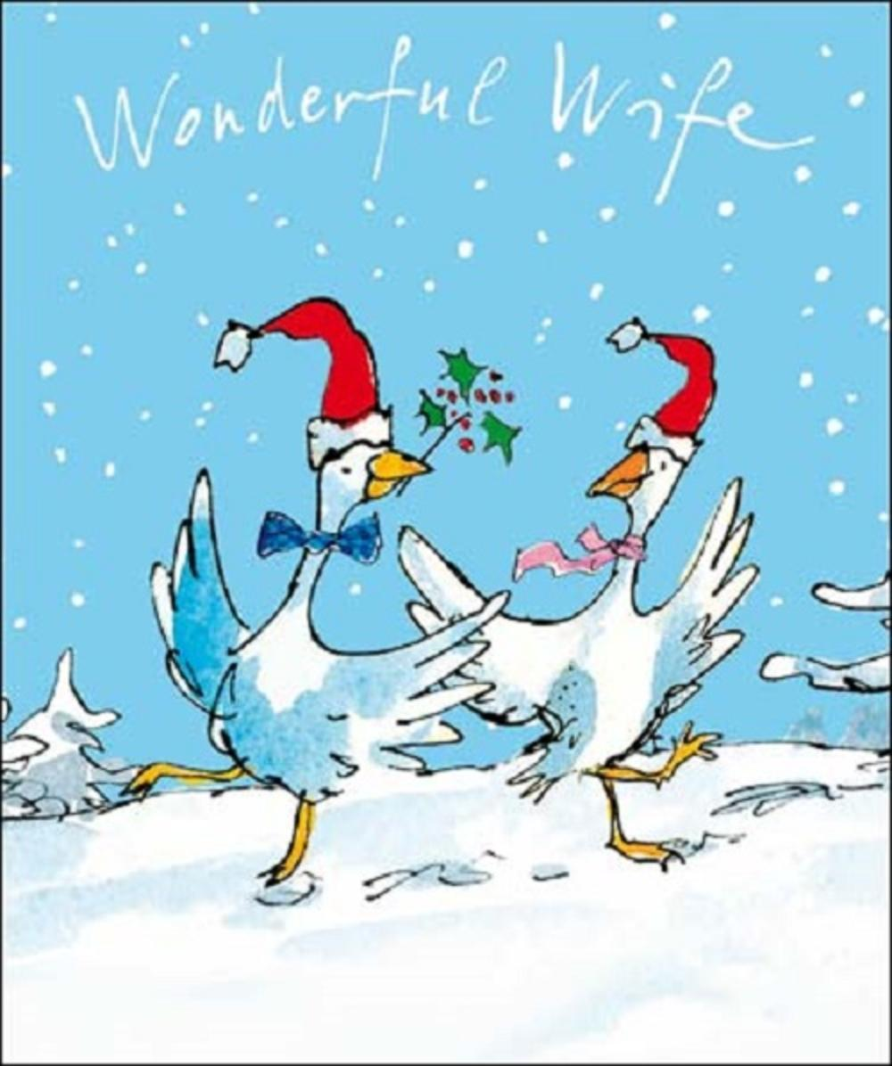 Wonderful Wife Quentin Blake Christmas Greeting Card