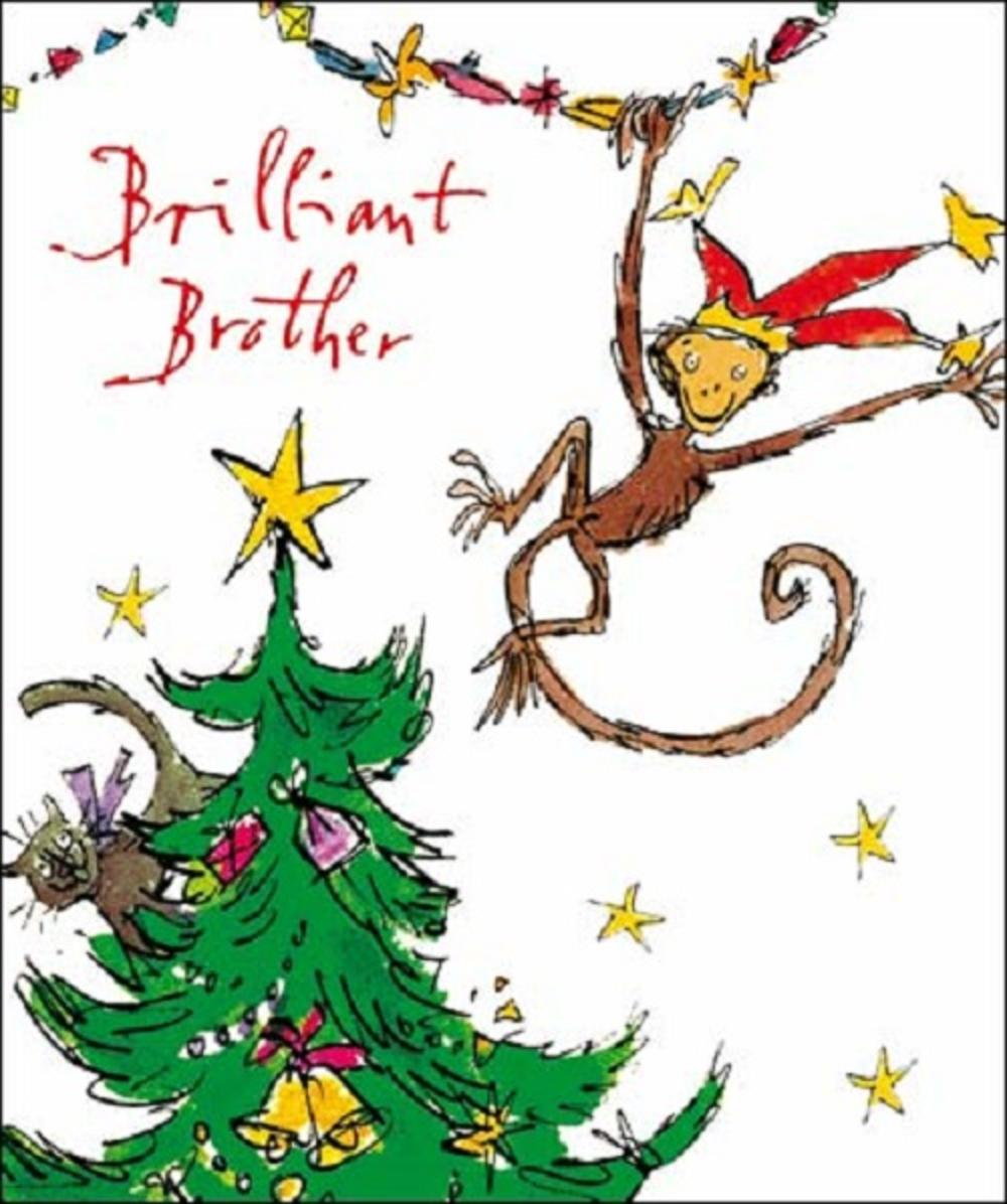 Brilliant Brother Quentin Blake Christmas Greeting Card