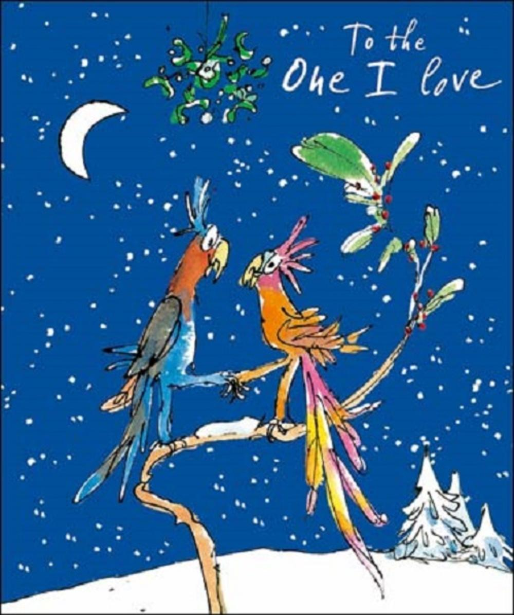 To The One I Love Quentin Blake Christmas Greeting Card