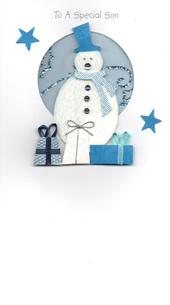 To A Special Son Luxury Handmade Christmas Card