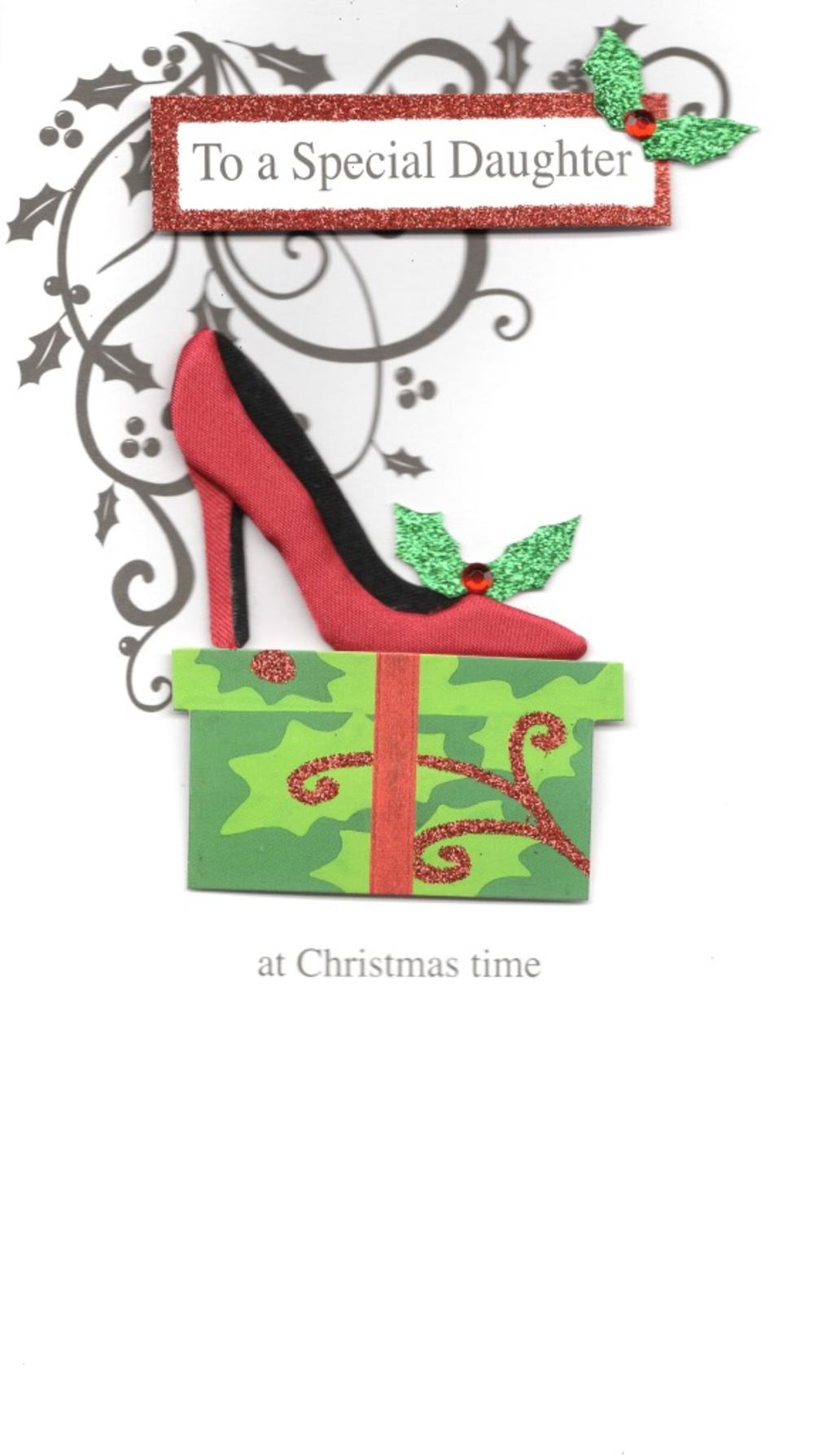 To A Special Daughter Luxury Handmade Christmas Card