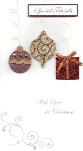 To Special Friends Luxury Handmade Christmas Card