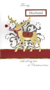 For My Husband Special Luxury Handmade Christmas Card