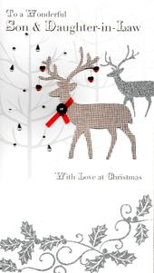 Son & Daughter-in-Law Luxury Handmade Christmas Card