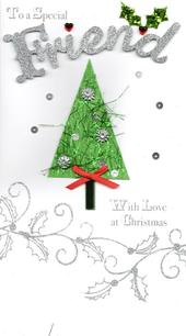 To A Special Friend Luxury Handmade Christmas Card