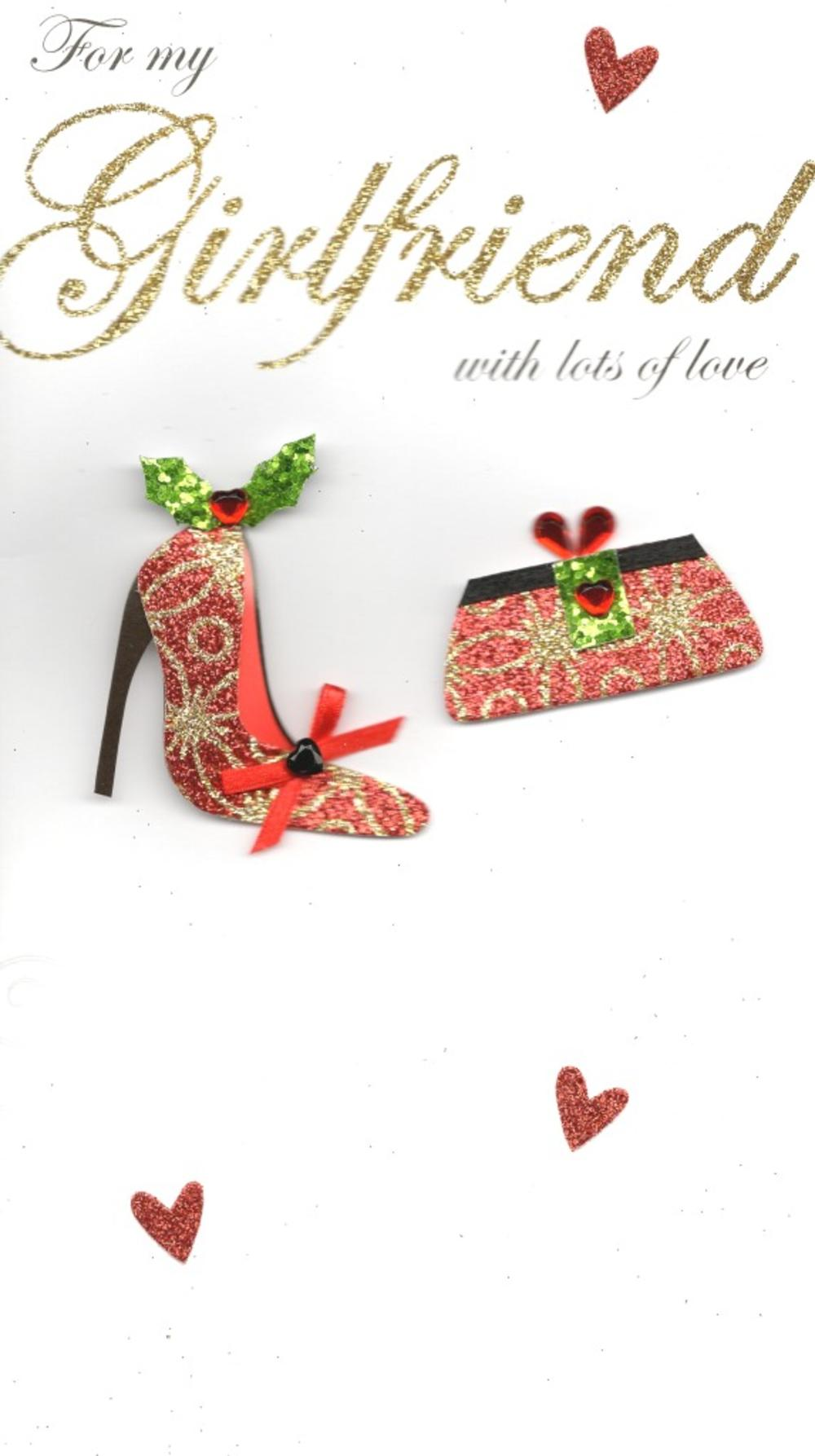 For My Girlfriend Special Luxury Handmade Christmas Card